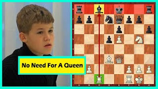 11 Year Old Carlsen Makes One Of The Most Amazing Moves Of His Career