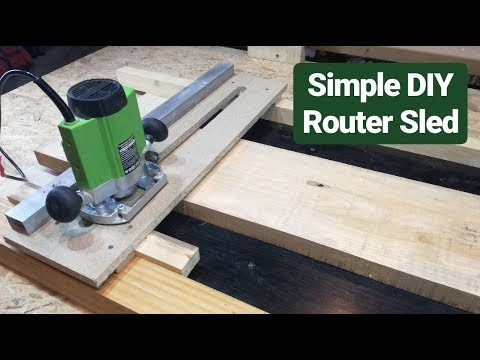 Simple DIY Jig for flattening wooden boards _ Router Sled