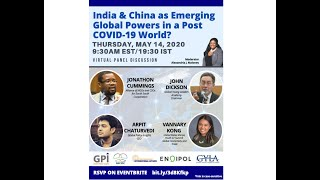 Alliance for UN South-South Cooperation/BPIA: Discussion on India & China in a Post COVID-19 World