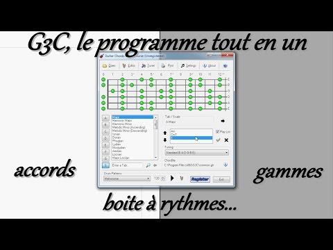 G3C, le programme tout en un: accords, gammes, boite à rythmes...