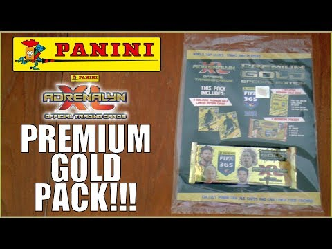3x LIMITED EDITIONS in PREMIUM GOLD PACK ! | Panini Adrenalyn XL FIFA 365 2018 Trading Cards