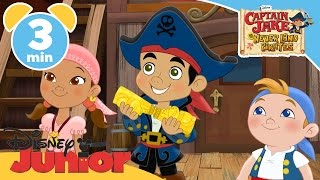 Captain Jake and the Never Land Pirates | Monkey Tiki Trouble | Disney Junior UK