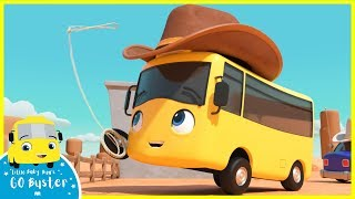 Buster the Cowboy Song | Go Buster | Baby Cartoons | Kids Songs | ABCs and 123s