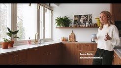 Sisustussuunnittelija Laura Ratian kotona
