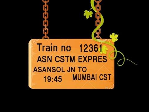 TRAIN NO 12361 TRAIN NAME ASN CSTM EXPRES ASANSOL JN CHITTARANJAN