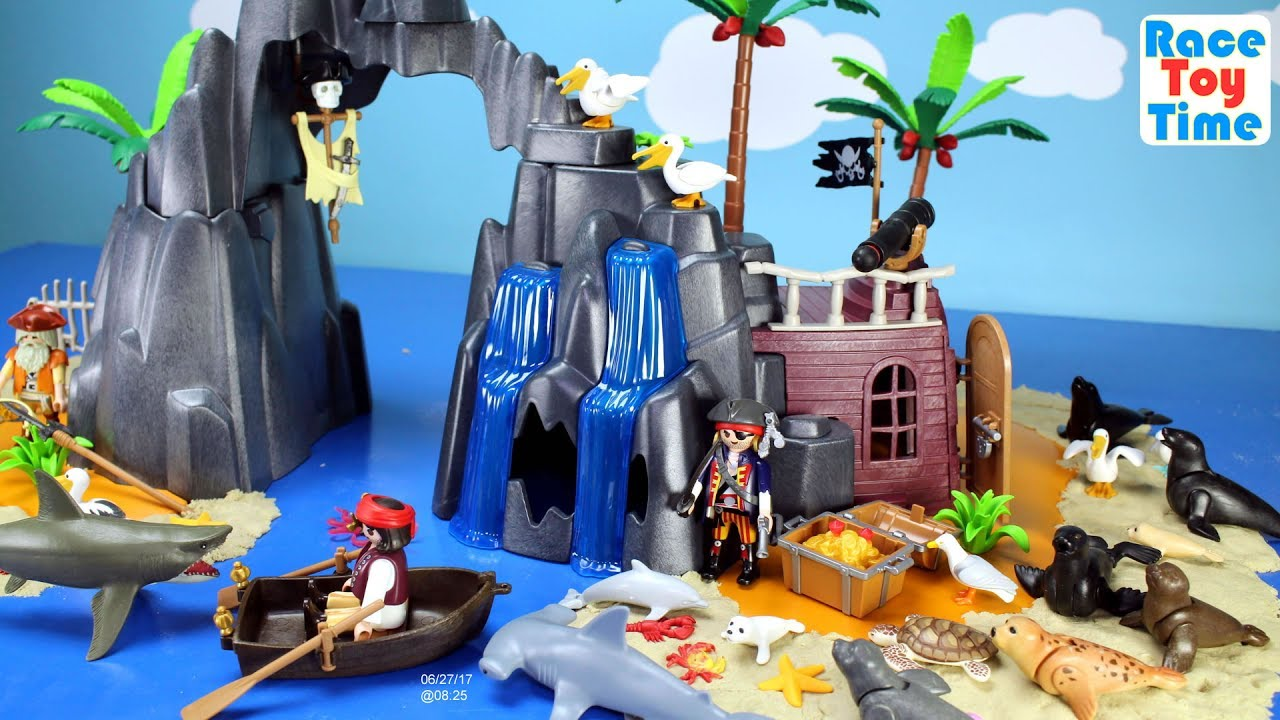 Moderne Playmobil Pirate Treasure Island Playset Build and Play with Sea MY-85