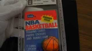 Opening 1986 Fleer Wax Pack NBA Basketball GAI 10