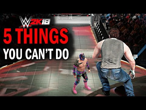 WWE 2K18 - 5 Things You Can't Do! #1 (Jumping From Titantron, Hidden OMGs, New Animations & More)