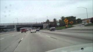 Driving on the 5 to 91 fwy in California from Santa Ana to Buena Park California.