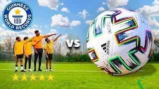 WORLD'S BIGGEST FOOTBALL vs. WORLD'S BEST KIDS FOOTBALLERS - Soccer Match