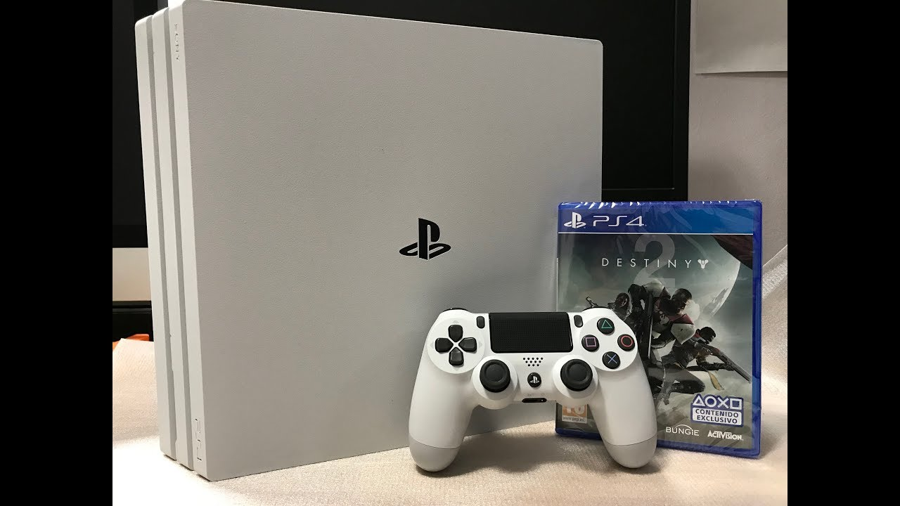 destiny 2 unboxing ps4 pro limited edition white ps4. Black Bedroom Furniture Sets. Home Design Ideas