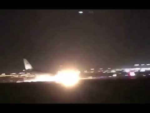 Saudia SV3818 made an emergency landing at Jeddah Airport without the nose gear deployed