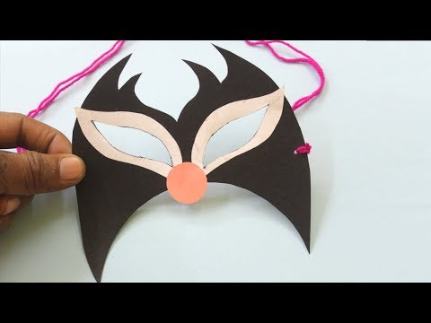 How To Make Paper Mask - Mask For Holi | DIY Mask For Party | Beautiful Mask Making