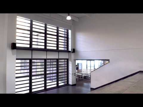 Electric roller blinds at height