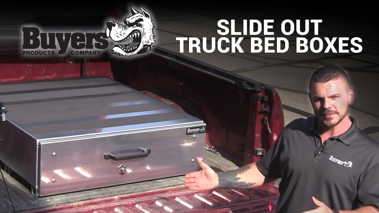 Pickup Truck Bed >> Customizable Slide Out Truck Bed Box Review | Buyers ...