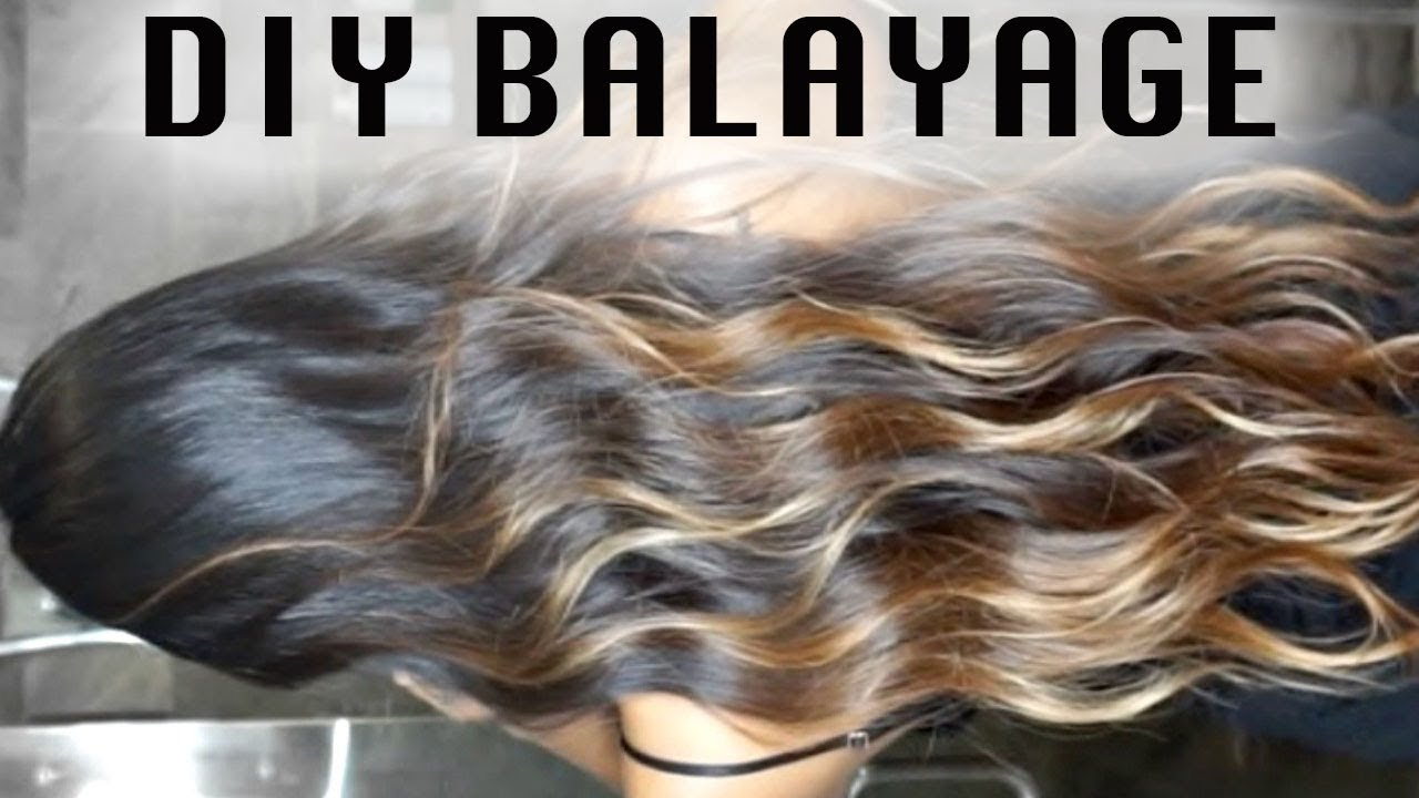 Diy Cheap Balayage On Dark Hair Ombre At Home Super Easy
