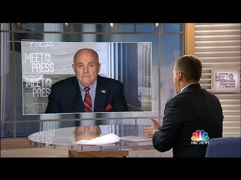 Full Giuliani: Cohen's 'Sole Mission' Was Trump Tower Moscow | Meet The Press | NBC News