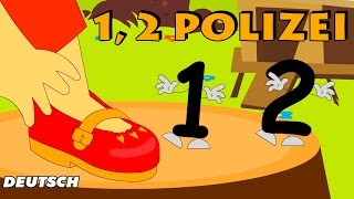 Eins Zwei Polizei (One Two Buckle my Shoe) | German Nursery Rhymes