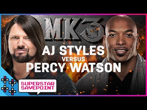 AJ STYLES crashes PERCY WATSON's Superstar Savepoint with a HISTORY LESSON! (feat. Corey Graves)