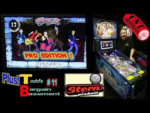 #1244 Stern AEROSMITH Pro Pinball Machine Plus BARGAIN BASEMENT #11 - TNT Amusements