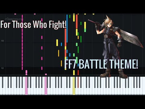 FF7 Battle theme(For Those Who Fight) [Piano Tutorial + Sheet music] thumbnail