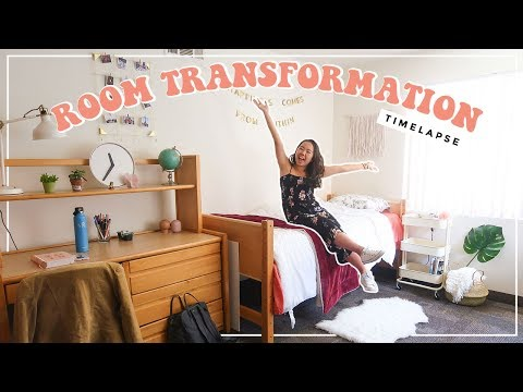 DORM ROOM MAKEOVER // before & after (timelapse)