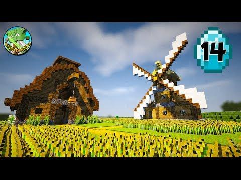Transform a Minecraft Village into a Town E14 - Farms #AD