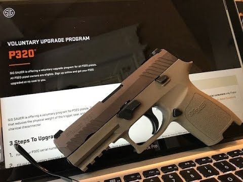 "Sig Sauer's P320 online ""voluntary upgrade"" process (in detail)"