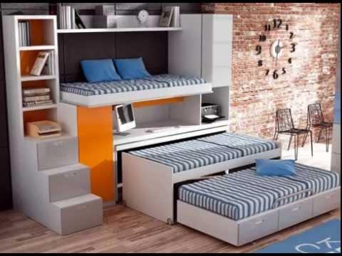 Dormitorios infantiles con una dos y tres camas youtube - Dormitorios infantiles para dos ...
