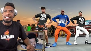"""LEBRON JAMES PLAYS HIS FIRST NBA 2K20 PARK GAME FROM """"THE BUBBLE"""" FT.ANTHONY DAVIS & QUINN COOK"""
