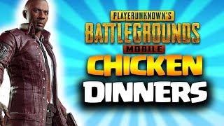Hunting some CHICKEN DINNERS in PUBG MOBILE