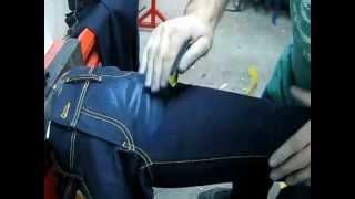 Scraping. Тертые джинсы