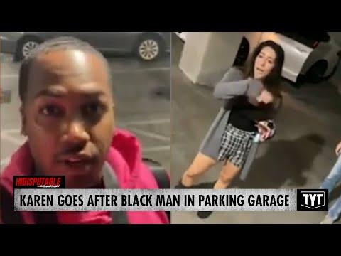 Karen Goes After Black Man In HIS OWN Parking Garage