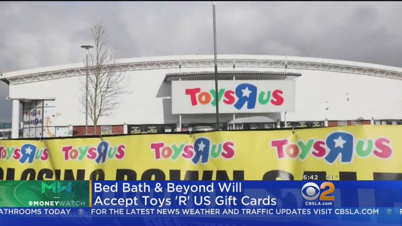 Bed, Bath & Beyond will exchange your Toys \'R\' Us gift cards - YouTube