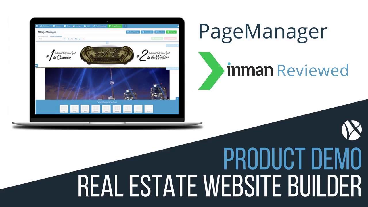 web4realty pagemanager  real estate website builder