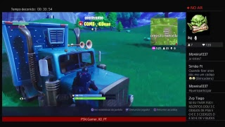 LIVESTREAM - GIVEAWAY DE 2X 2.800 V-BUCKS #2 - FORTNITE | C/ ZVP TIAGO | #1K