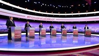 Présentation des candidats lors du premier débat de la primaire de la gauche