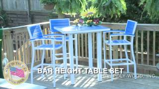 Bar Height Table Set - Poly-wood Inc - Gift And Garden Usa