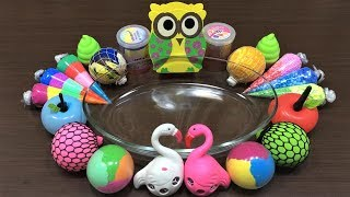 MIXING RANDOM THINGS INTO STORE BOUGHT SLIME ! RELAXING SLIME WITH BALLOONS