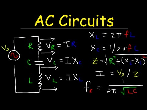 AC Circuits Basics, Impedance, Resonant Frequency, RL RC RLC LC Circuit Explained, Physics Problems