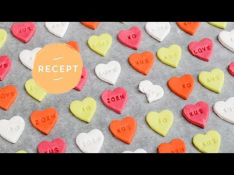 Wonderbaarlijk Snoephartjes maken - Je eigen persoonlijke hartjes snoepjes met tekst! DL-52