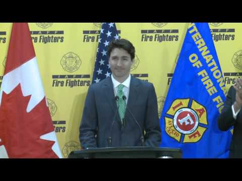 Prime Minister Trudeau attends the Conference of the International Association of Fire Fighters