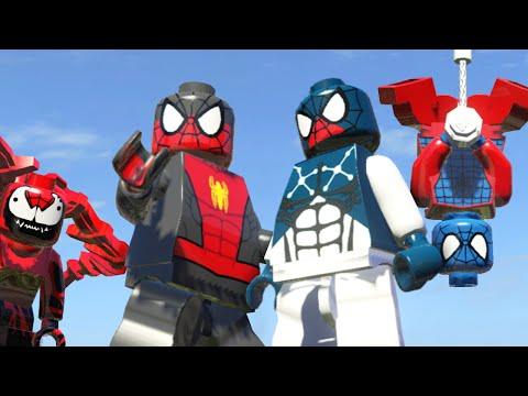Человек паук лего мультик