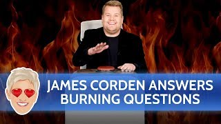 James Corden Answers 'Ellen's Musical Burning Questions'