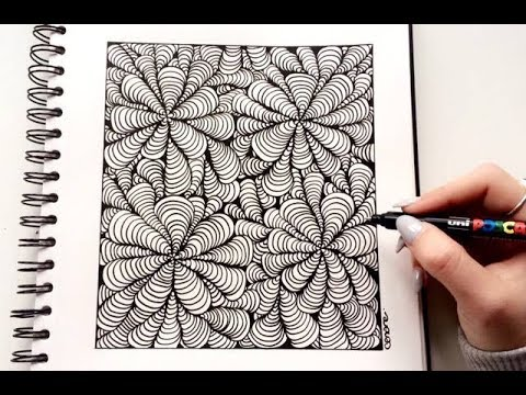 zentangle illusion d 39 optique facile youtube. Black Bedroom Furniture Sets. Home Design Ideas
