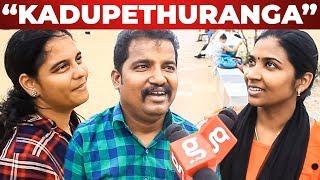 """Kadupethranga My Lord"" – Husband & Wife Torture | Chennai People Reacts | 7up Madras Gig"
