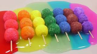 ABC Song | DIY How To Make Rainbow Color Skewer Clay Slime Source | Kinder Surprise