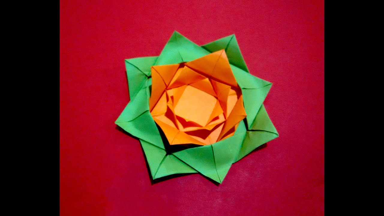 easy paper flower origami rose flower christmas