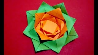 Easy Paper Flower. Origami Rose - Flower. Ideas For Easter. Gift Wrapping