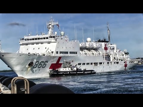 Chinese Hospital Ship Departs Pearl Harbor